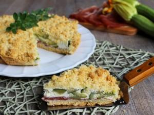 Ricetta Sbriciolata salata con Zucchine e Speck