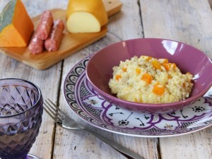 Ricetta Risotto Zucca, Salsiccia e Provola
