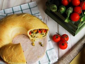 Ricetta Tortano vegetariano