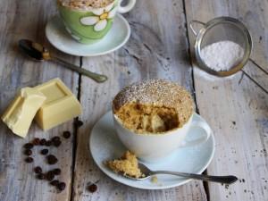 Ricetta Mug Cake al Caffè con cuore di cioccolato bianco