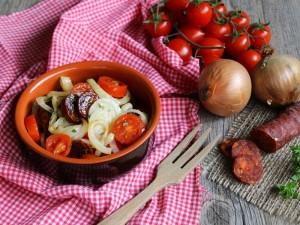 Insalata tiepida di Chorizo