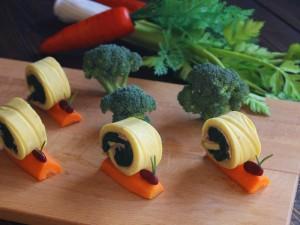 Ricetta Lumachine di frittata agli spinaci