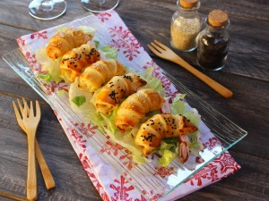 Ricetta Gamberoni in pasta sfoglia