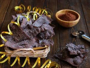 Ricetta Chiacchiere al cioccolato