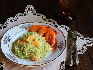Ricetta Risotto zucchine e gamberi