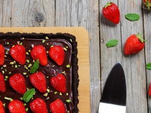 Ricetta Crostata senza cottura al cioccolato