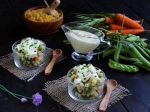 Ricetta Insalata di pasta con salsa di yogurt e maionese