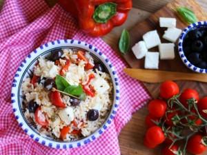 Ricetta Insalata di riso alla greca