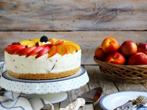 Ricetta Cheesecake alle pesche e yogurt