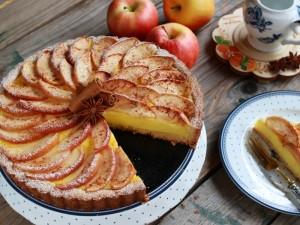Ricetta Crostata di mele e crema pasticcera