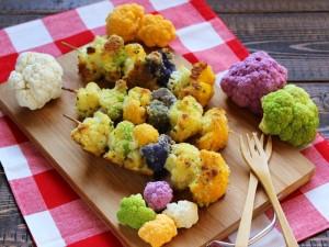 Ricetta Spiedini di cavolfiore colorato