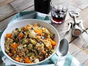 Ricetta Insalata di cereali tiepida con verdure
