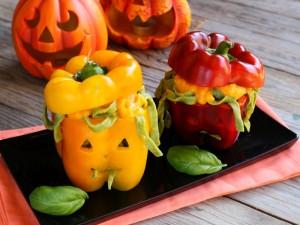 Ricetta Peperoni ripieni di Halloween