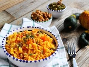 Ricetta Cous cous con zucca, noci e semi
