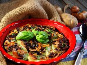 Ricetta Tortino di funghi e patate