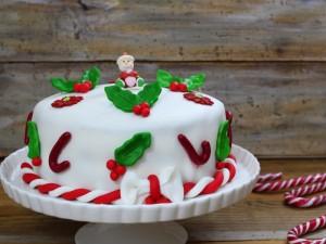 Ricetta Torta di Natale in pasta di zucchero