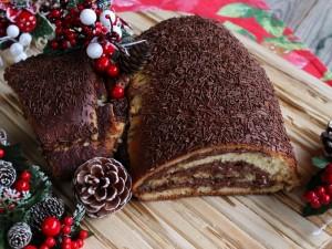 Ricetta Tronchetto di Natale di brioche alla Nutella