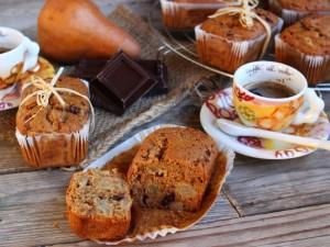Ricetta Mini plumcake pere e cioccolato