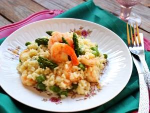 Ricetta Risotto asparagi e gamberi
