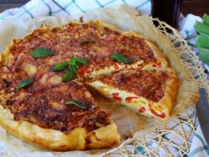 Ricetta Quiche vegetariana con porri e peperoni