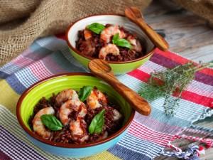 Ricetta Riso basmati integrale con gamberi e salsa di soia