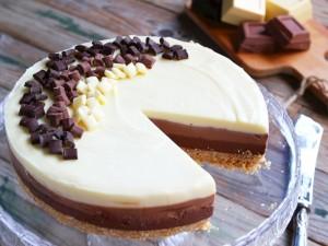 Ricetta Cheesecake al triplo cioccolato