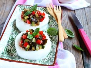 Ricetta Mozzarella ripiena di verdure