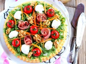 Ricetta Crostata salata con base morbida