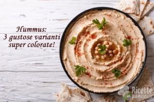Ricetta Hummus: 3 gustose varianti super colorate