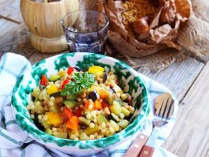 Ricetta Fregola con verdure