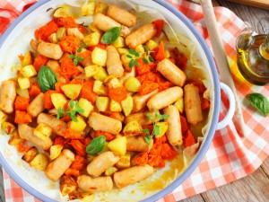 Ricetta Salsiccia e zucca al forno