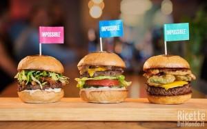 Hamburger vegano, che sa di carne