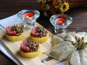 Ricetta Tartine di polenta con lenticchie e cotechino