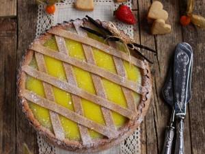Ricetta Crostata alla crema pasticcera vegana